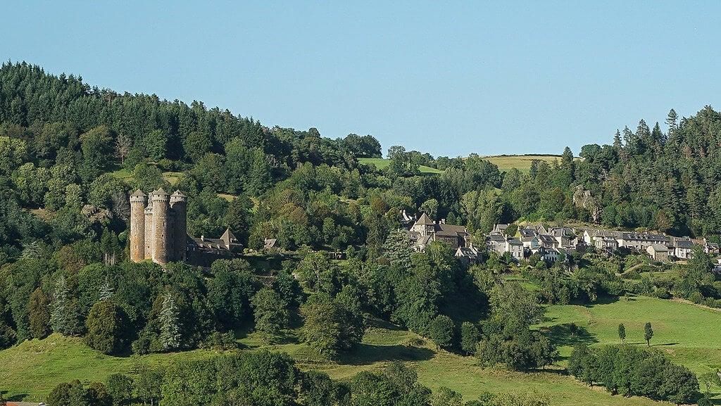 Vista del castillo de Anjony