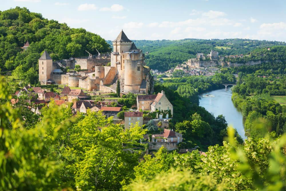 Vista del castillo de Castelnaud