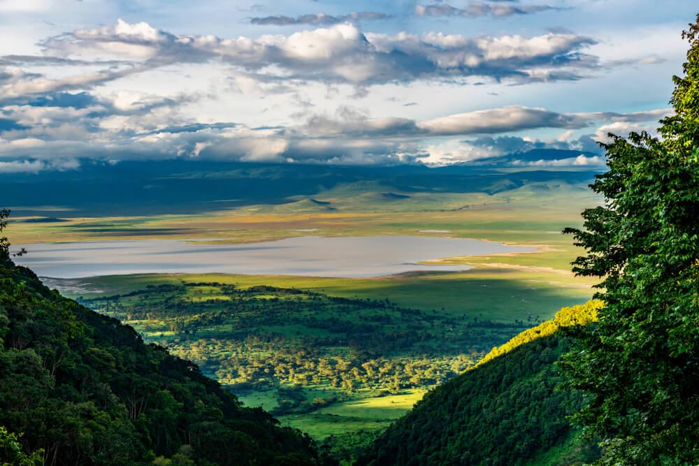 Cráter del Ngorongoro para realizar un safari en el norte de Tanzania