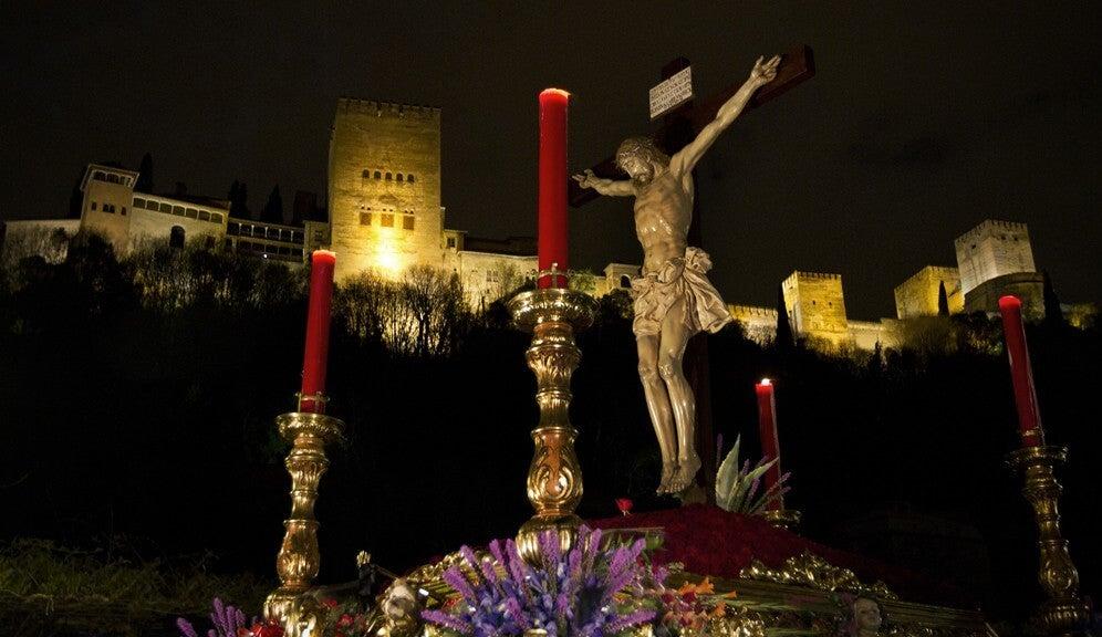 Cristo del Cnsuelo en la Semana Santa de Granada