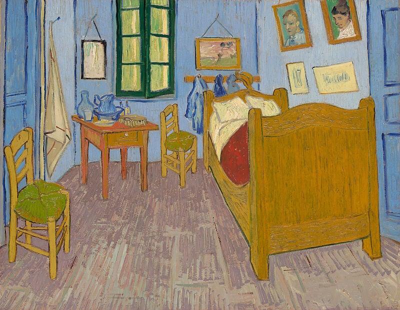 Dormitorio en Arlés de Van Gogh en el Museo de Orsay