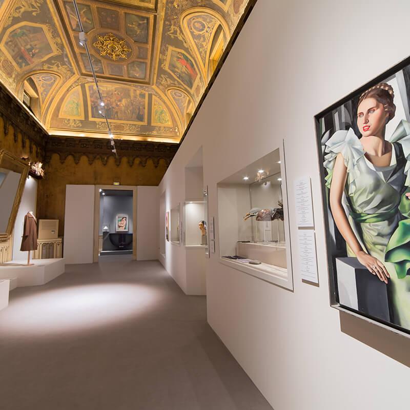 Vista de la exposición de Tamara de Lempicka