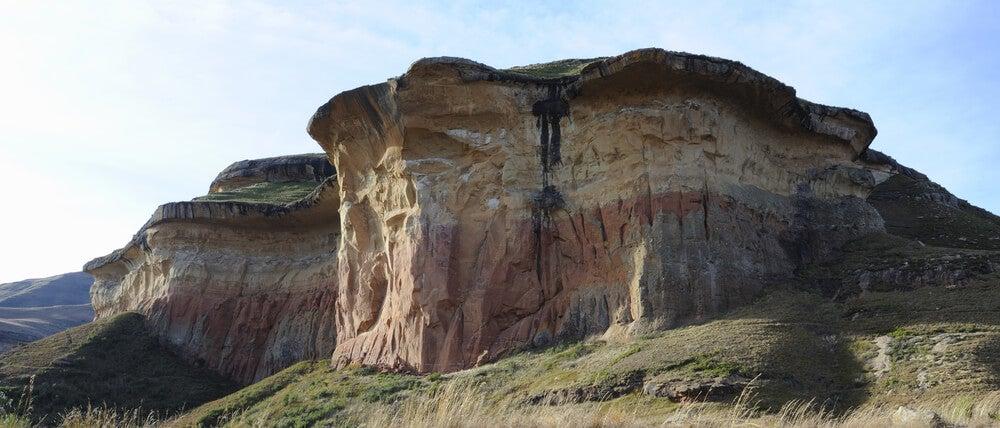 Formaciones rocosas en las montañas Maloti