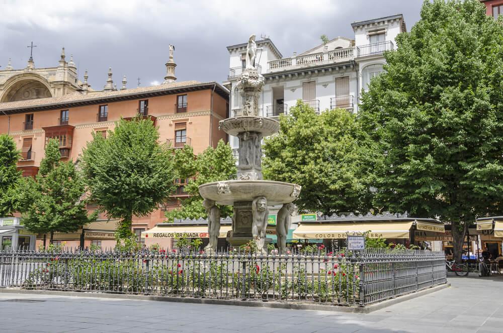 Fuente de los Gigantones en Granada
