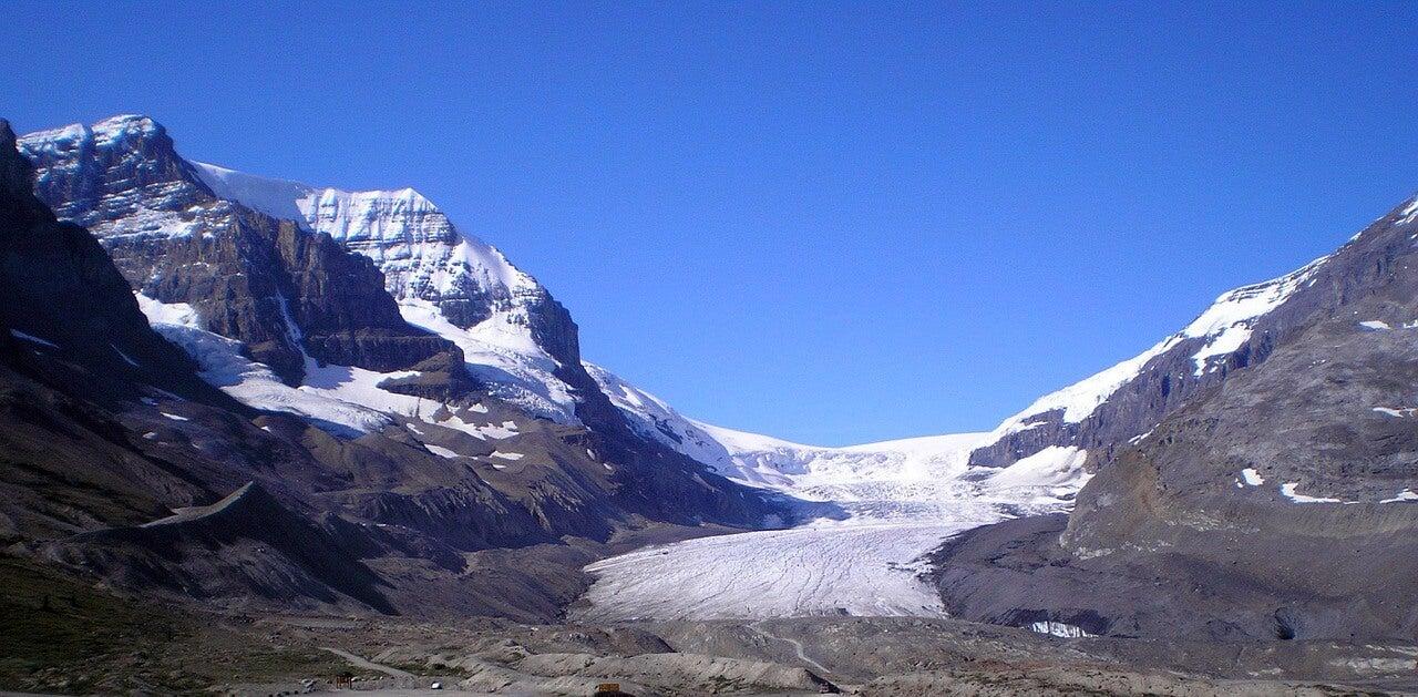 Vista del glaciar Athabasca