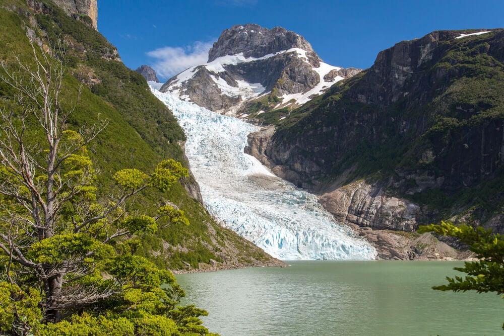 Vista del glaciar Serrano