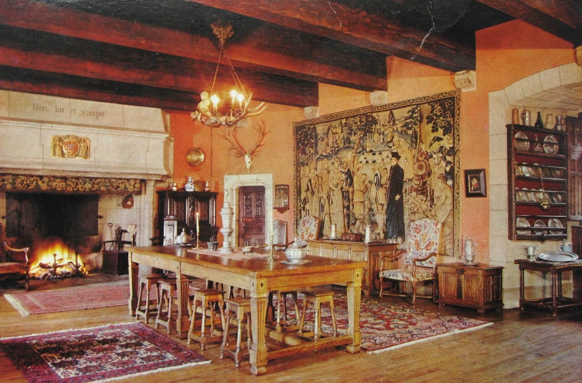 Interior del castillo de Anjony
