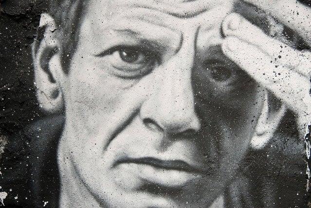 Dibujo de Jackson Pollock, uno de los artistas representados en el cine