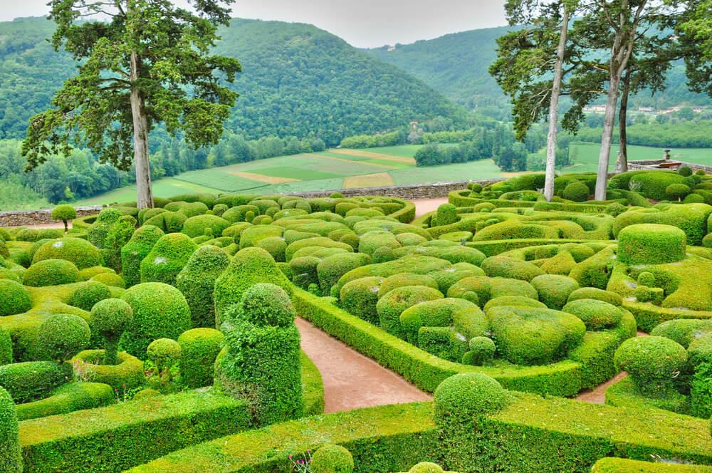 Vista de los jardines de Marqueyssac