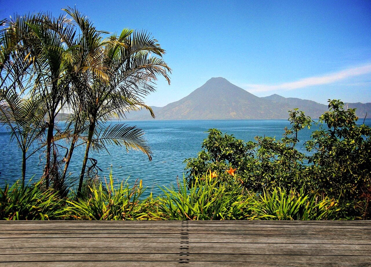 Visa del lago Atitlán