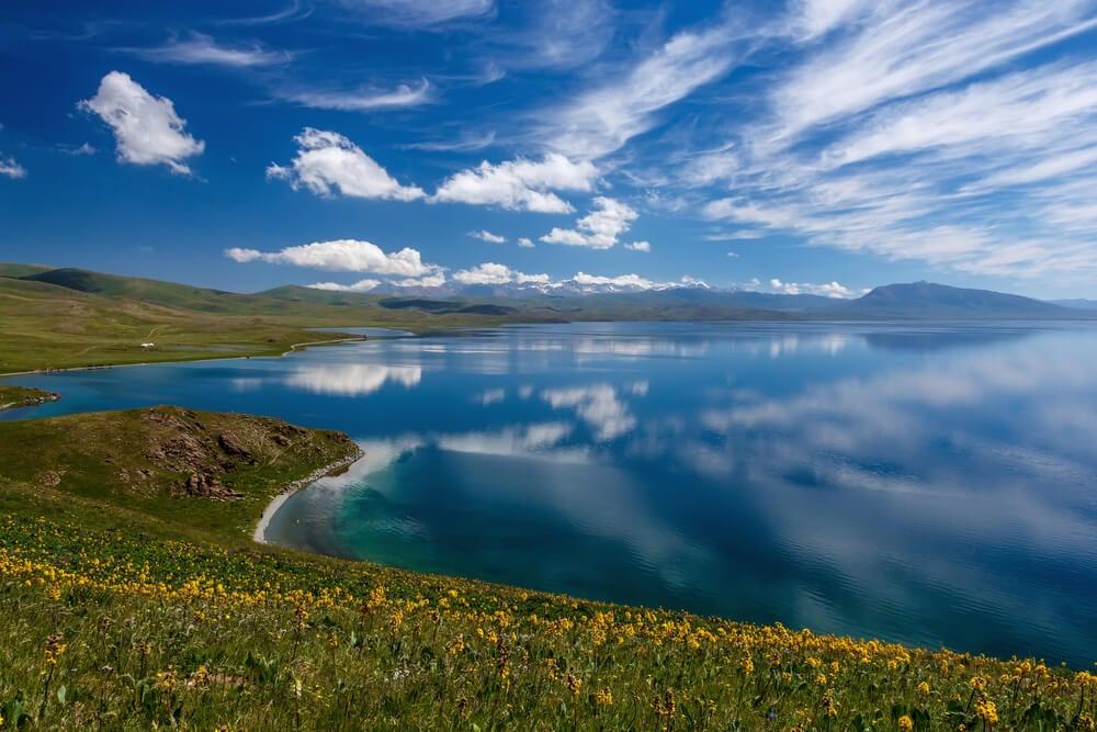 Senderos para llegar a Song Kol en Kirguistán