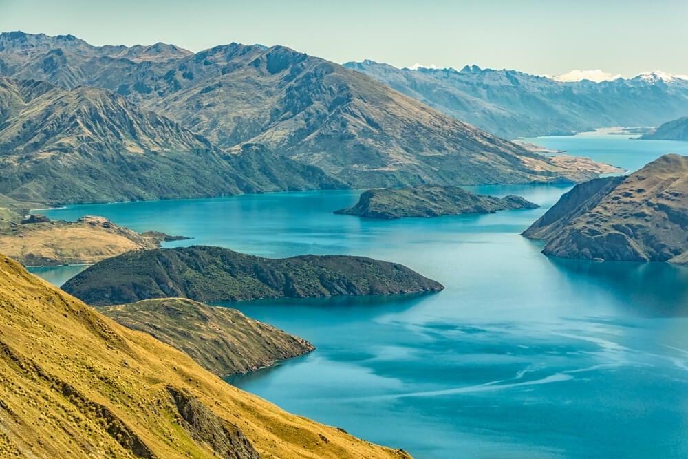 Vista del lago Wanaka