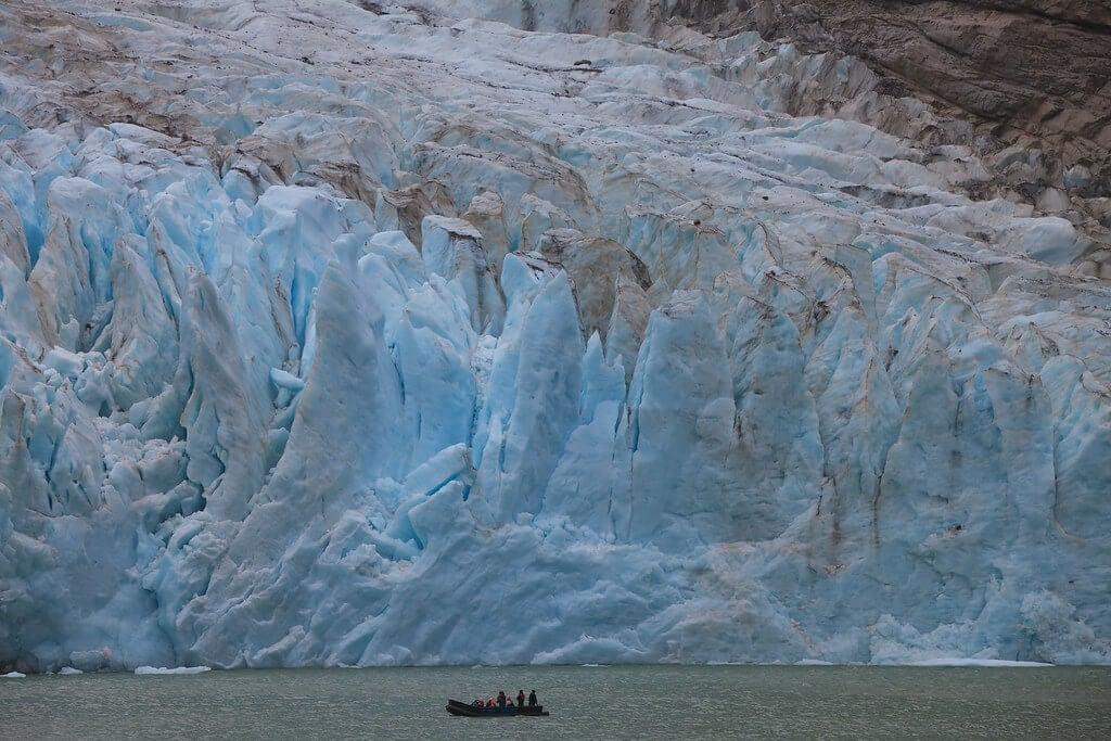 Lengua del glaciar Serrano