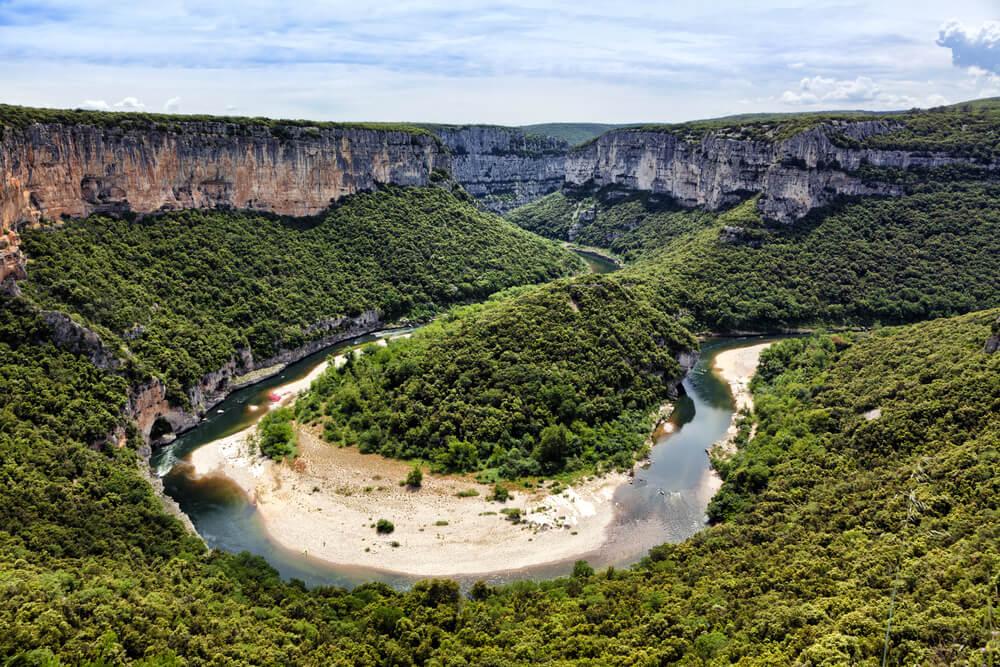 Meandro del río Ardeche