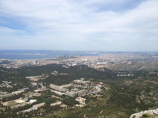 Vista de Marsella desde Mont Puget