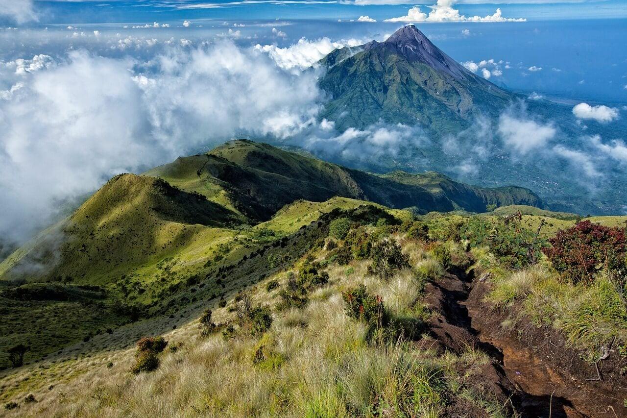 Vista del monte Merapi