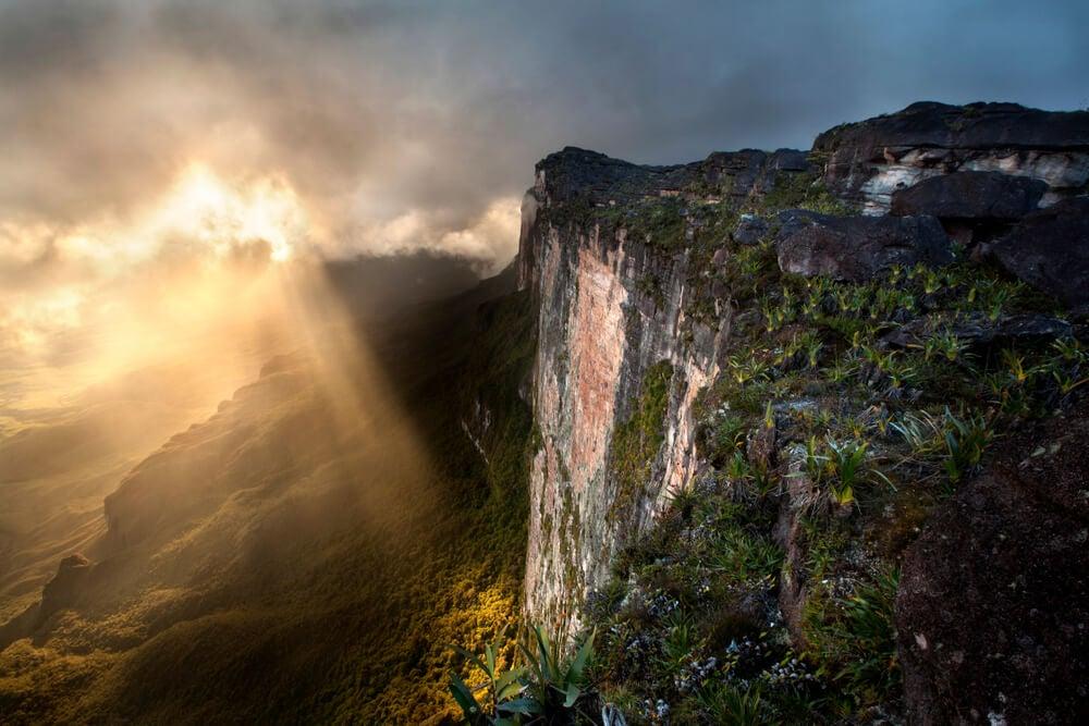 Vista del monte Roraima, un lugar con energías misteriosas