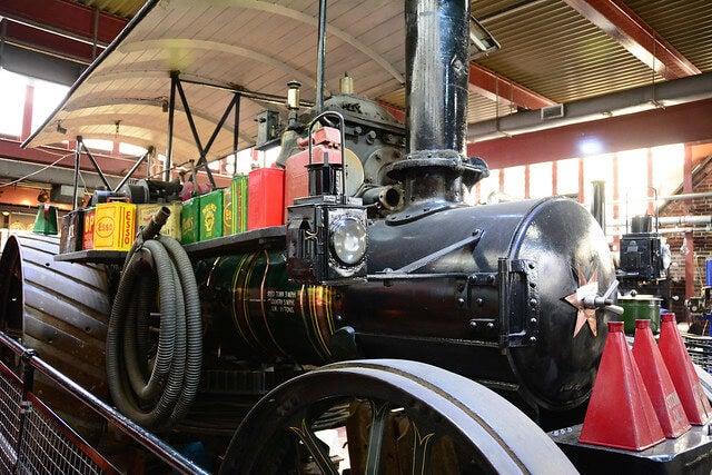 Máquina de vapor en el Nottingham Industrial Museum