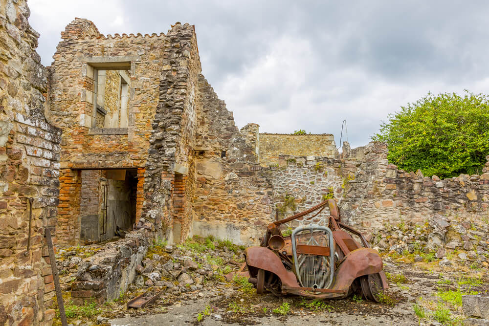 Casa destruida en Oradour sur Glane