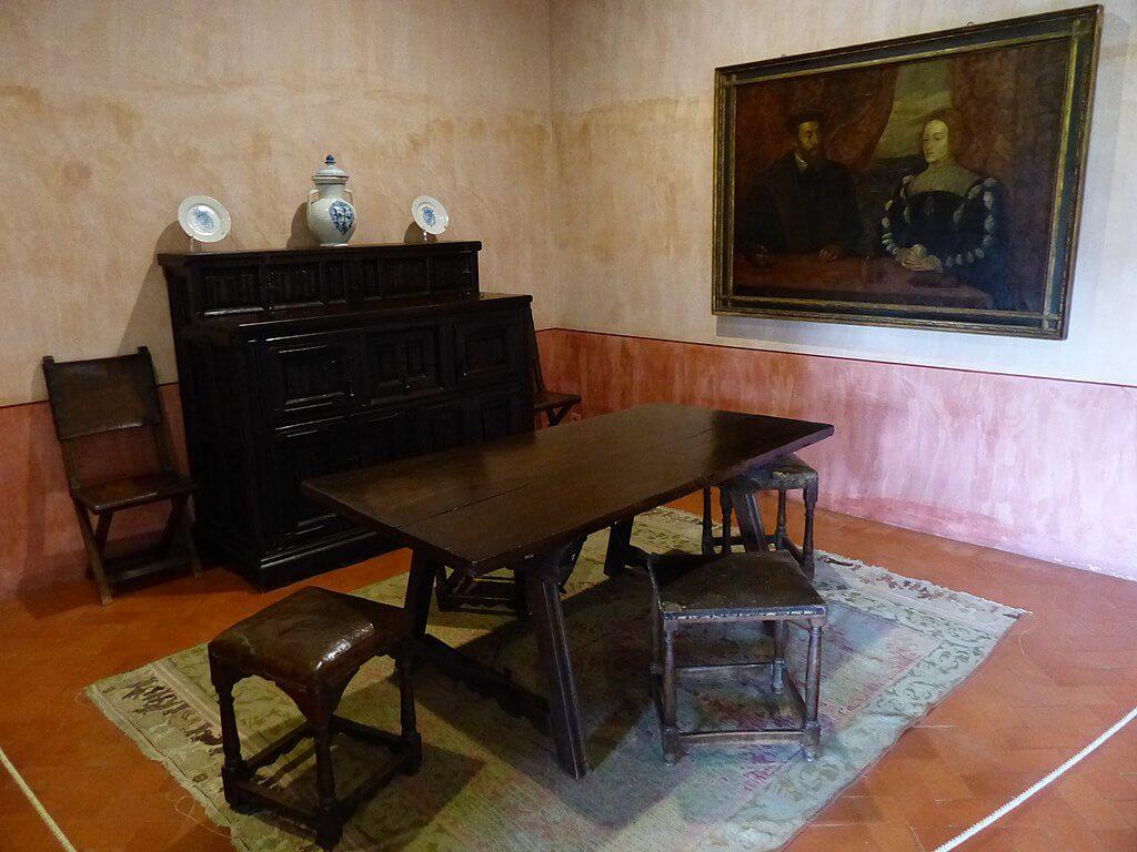 Interior de la casa-palacio