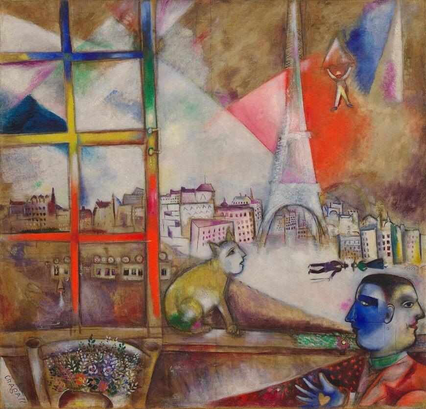 """Cuadro """"París a través de la ventana"""""""