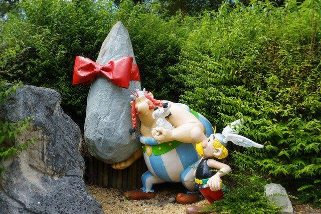 Muñecos en el Parque Astérix