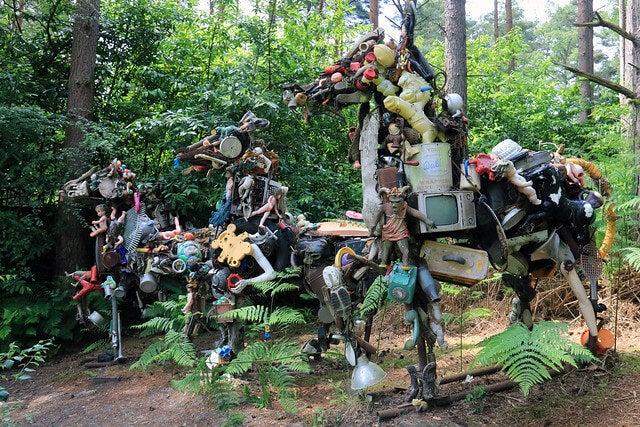 Obra en el parque de esculturas de Farnham