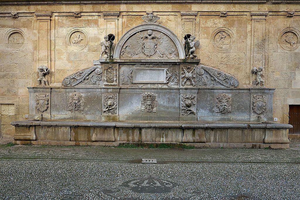 Pilar de Carlos V, una de las fuentes de Granada históricas