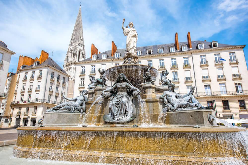 Plaza Royale en la ciudad de Nantes