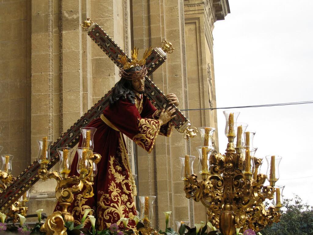 Procesión de Jesús de la Amargura en la Semana Santa de Granada