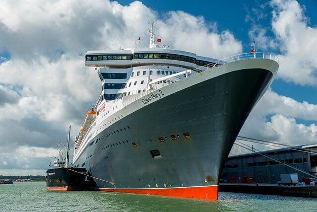Vista del Queen Mary 2
