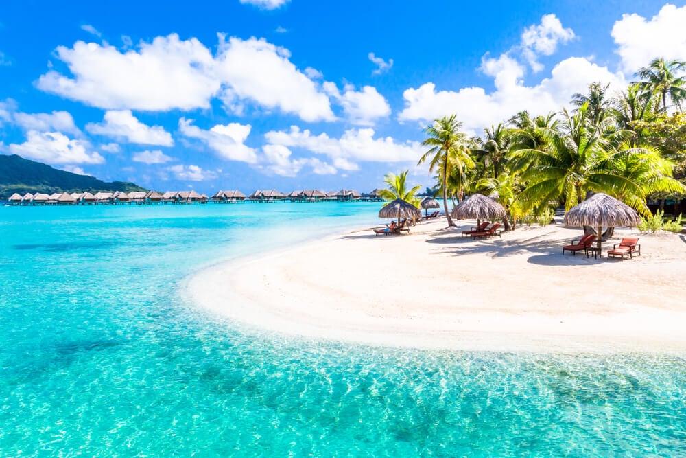 Resort en Bora Bora en la Polinesia Francesa