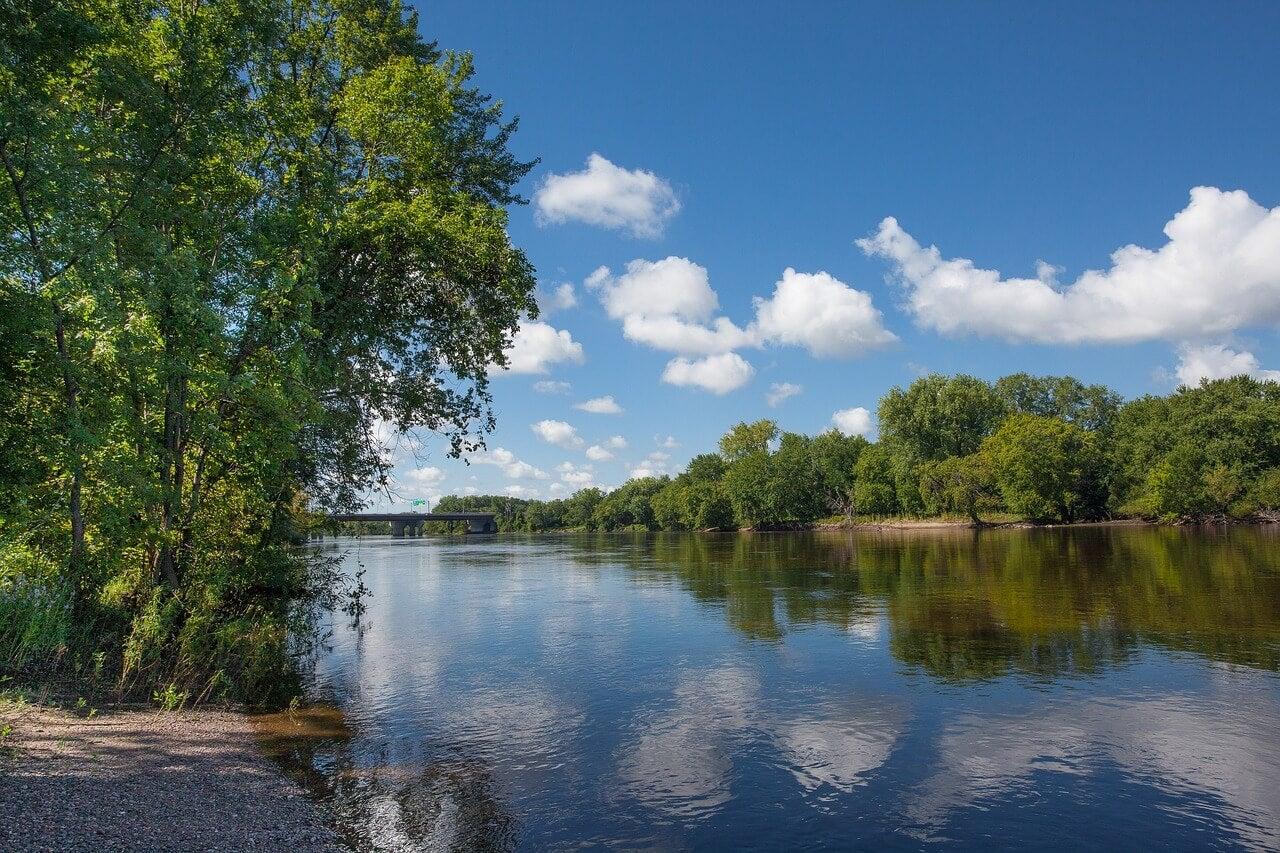 Paisaje del río Mississippi