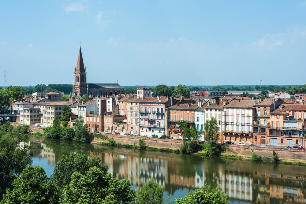 Vista de Montauban en Tarn-et-Garonne