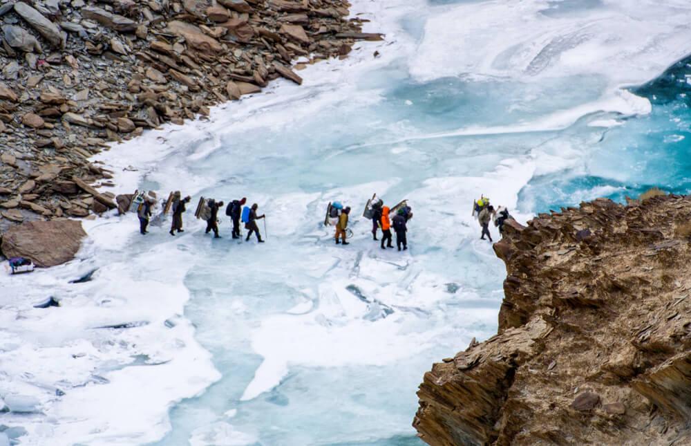 Río Zanskar helado