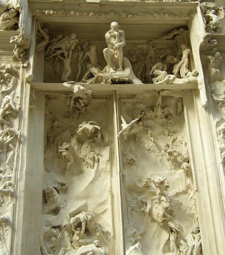 Puerta del Infierno de Rodin en el Museo de Orsay
