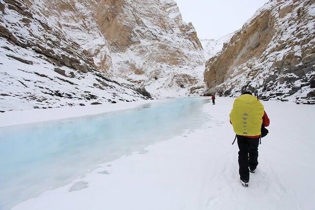 Excursionistas haciendo el Chadar Trek