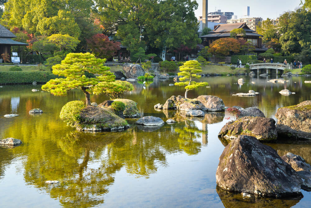 Jardines de Suizenji-jojuen en Kumamoto