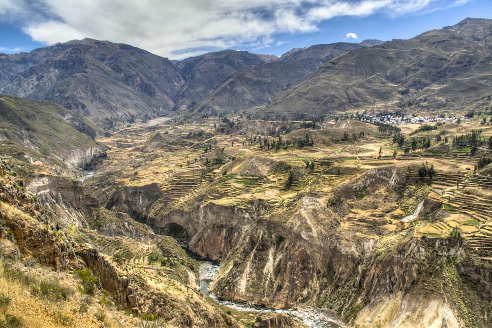 Terrazas en el valle del Colca