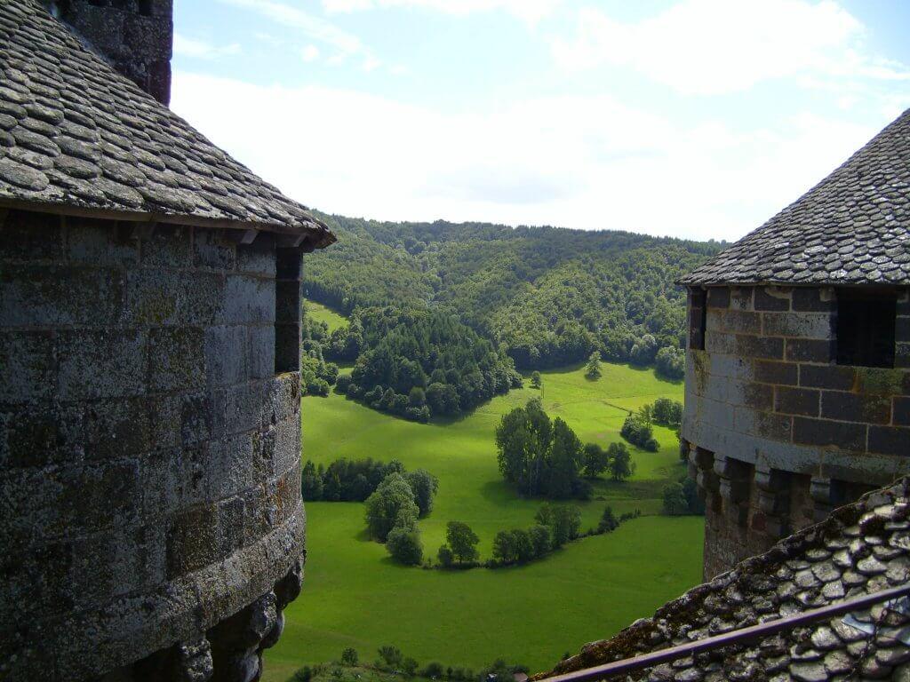 Vista desde las torres del castillo de Anjony