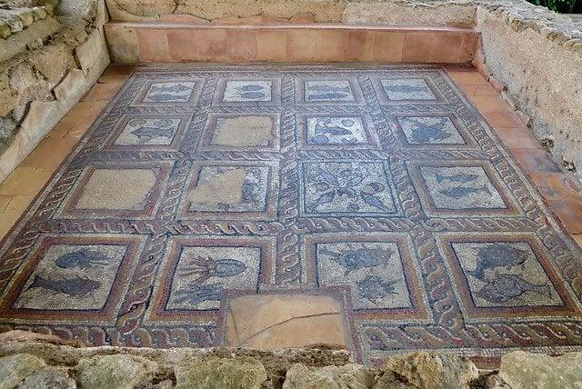 Mosaico en la villa romana de Montcaret