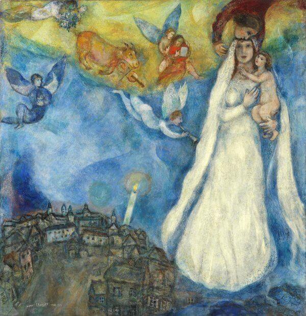 Cuadro La Virgen de la aldea de Marc Chagall