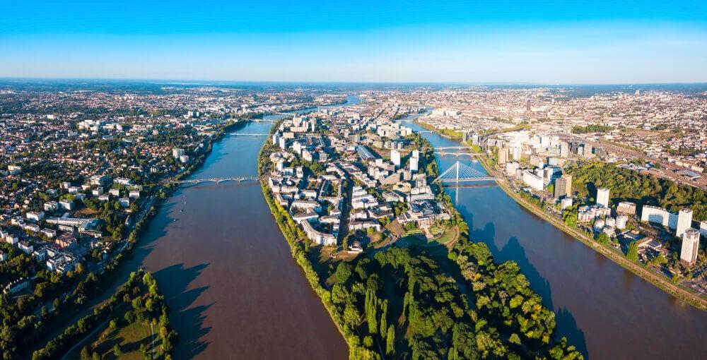 Vista aérea de Nantes