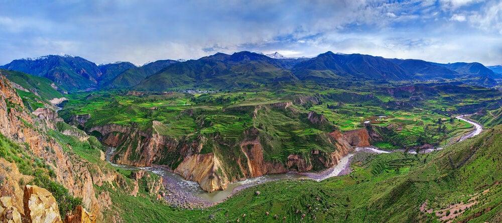 Vista del valle del Colca