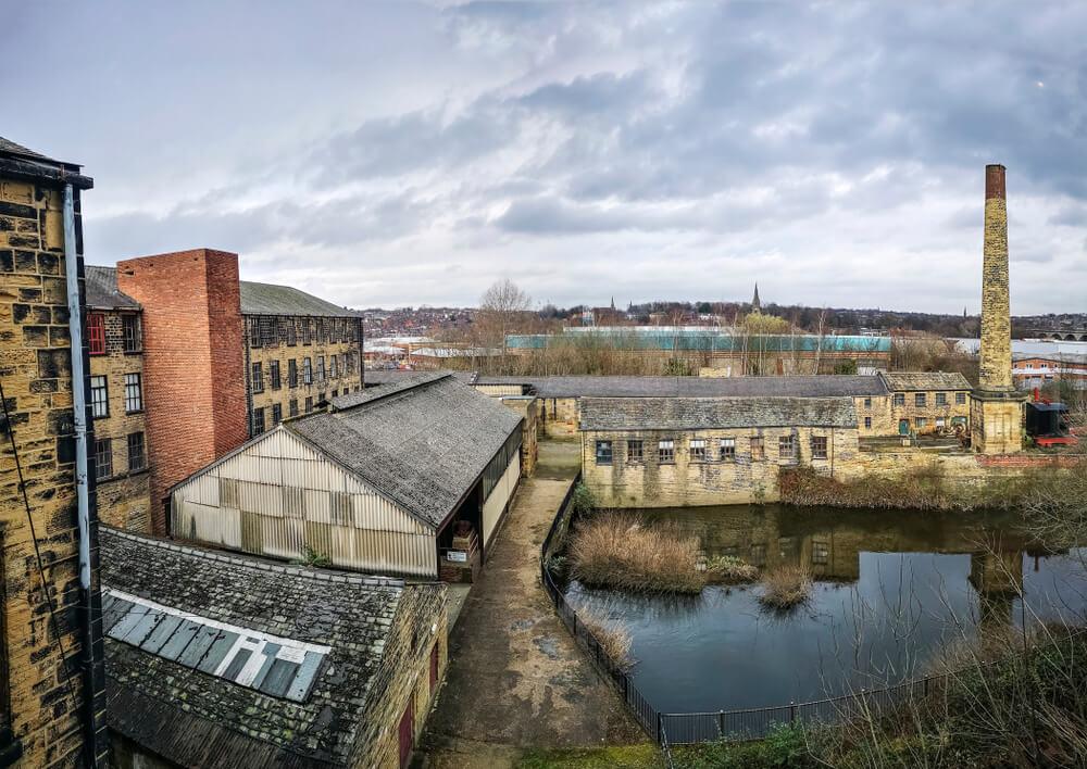 Vista de la factoría Armley Mills