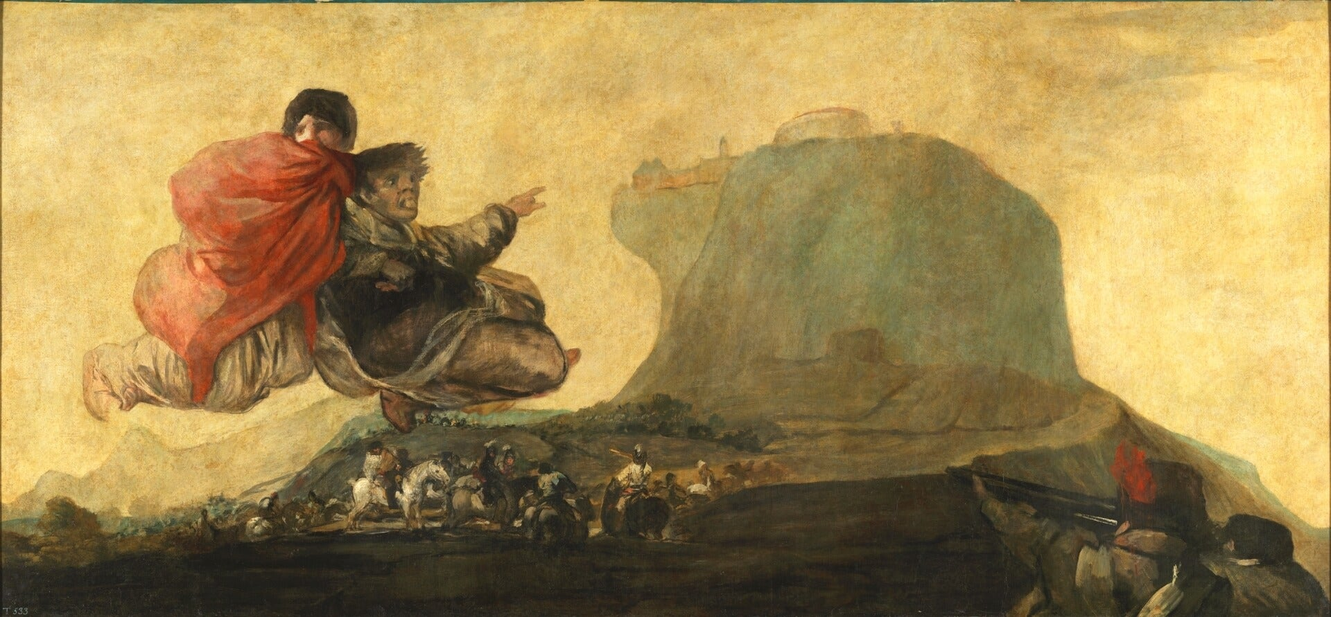 Asmodea, una de las Pinturas negras de Goya