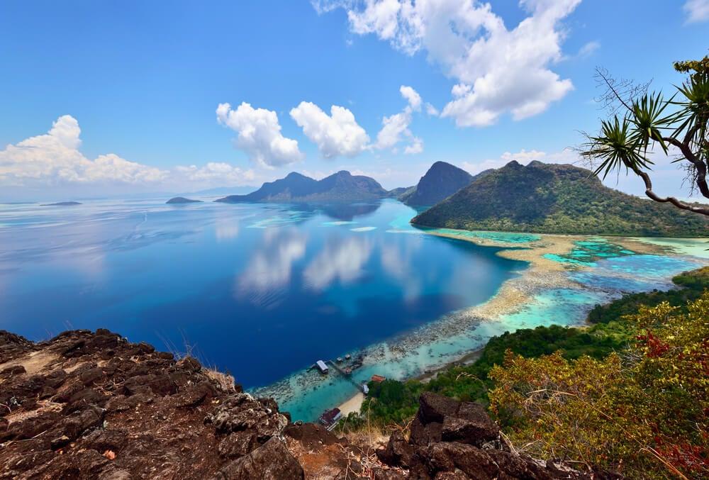 Bahía Dulang en Borneo