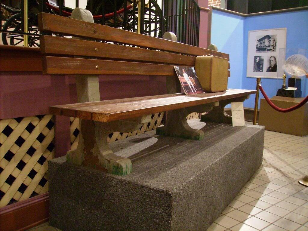 Banco de Forrest Gump en el Museo de Historia de Savannah