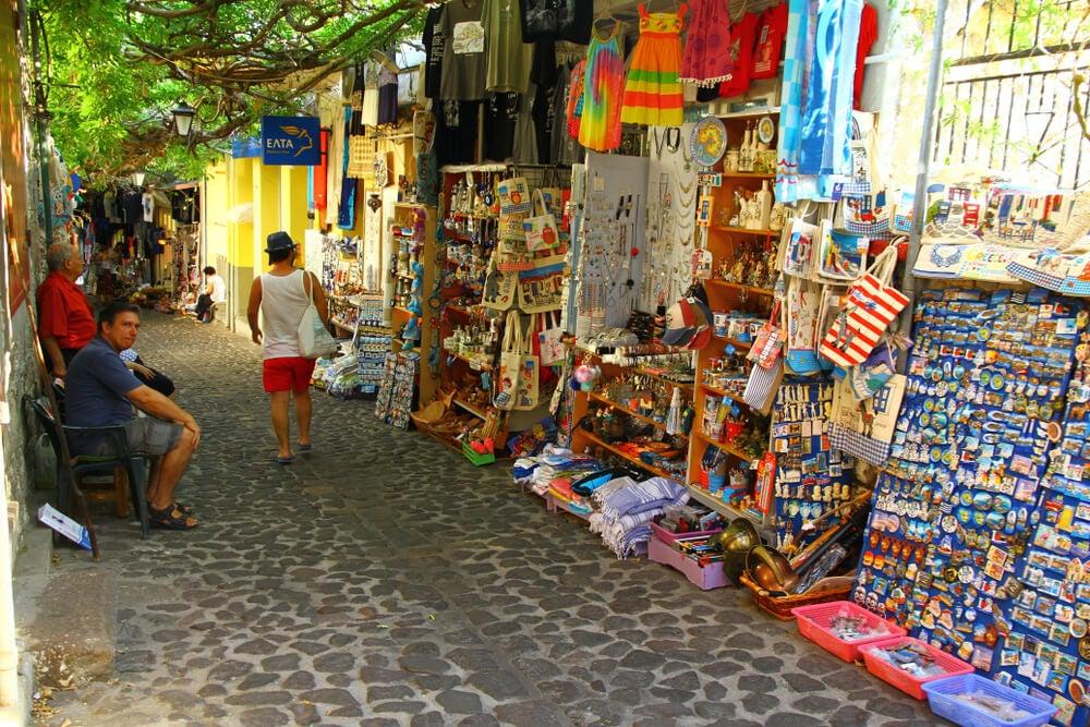 Calle del Mercado en Molivos
