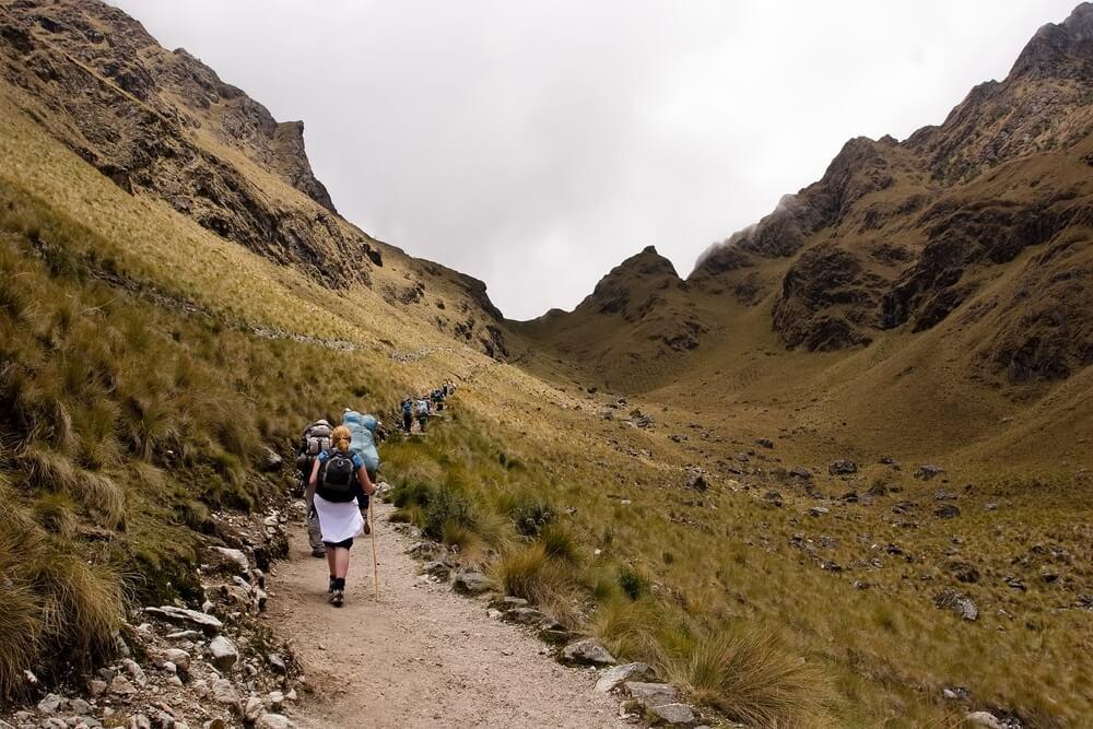 Vista del camino del Inca